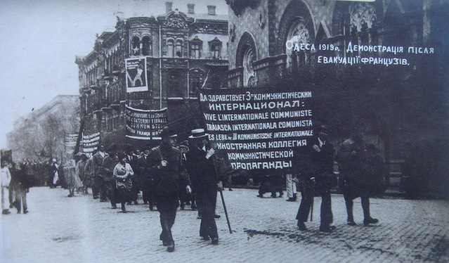 Odessa bolshevistst demonstration April 1919